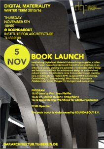 Interlocking Digital and Material Cultures_book launch at TU Berlin, November 5, 2015 @ 18:00